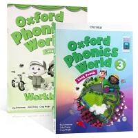 英文原版 Oxford Phonics World 3: Student Book with App.新版 2册原版牛