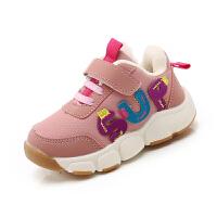 宝宝鞋子冬加绒女宝宝秋冬季男童机能鞋1-3岁婴儿棉鞋软底学步鞋