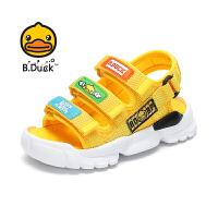 【3折价:98.7】B.Duck小黄鸭童鞋男童2020夏季新款凉鞋防滑耐磨儿童鞋透气露趾沙滩鞋B2183922