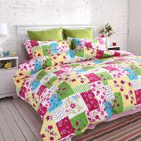 多喜爱MMK家纺全棉斜纹田园时尚四件套床上用品薇薇安