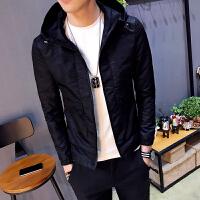 男士夹克外套秋季修身连帽衫开衫青年帅气休闲上衣潮流时尚新款