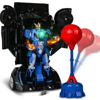 变形遥控玩具车机器人无线遥控汽车赛车电动男孩搏击金刚5充电