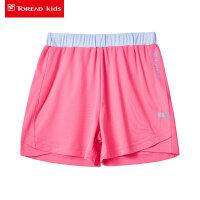 探路者童装 儿童短裤女孩中大童户外运动夏季新款女童短裤裙