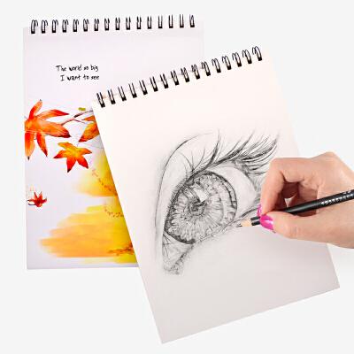 美术空白素描本高中小学生图画本成人手绘专用画纸绘画a4纸速写本画画彩铅本子户外写生本50页 100克厚素描本