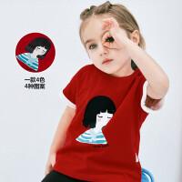 【满200减130】迷你巴拉巴拉女童宽松短袖T恤2019夏装新品儿童宝宝印花可爱上衣