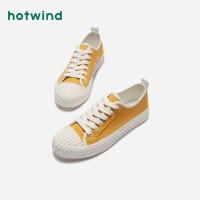 【2.29-3.2 2件3折】热风女士潮流饼干鞋青年系带低跟单鞋H14W9119