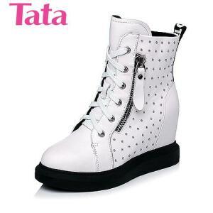 Tata/他她 年时尚休闲牛皮革女休闲靴2A285DZ5