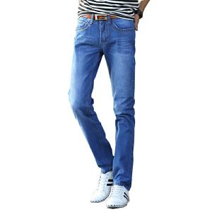 1号牛仔  男士时尚休闲直筒牛仔裤 百搭男长裤