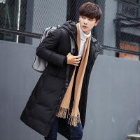 男士冬装外套2018新款韩版帅气加厚反季节羽绒服男时尚款中长款潮