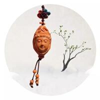 橄榄核雕刻平安观音菩萨男款单籽单核挂坠吊坠