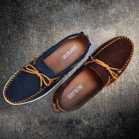 西瑞帆船鞋男士豆豆鞋子男士乐福懒人鞋套脚英伦休闲潮鞋春季新款XR5168