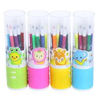 橙爱cheerbb 儿童水彩笔套装系列 火柴棒可水洗彩色大容量绘画笔 12色 笔盒颜色*发