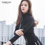 【女神特惠价】Kombucha运动休闲套装女士纯棉修身显瘦健身跑步外套长裤背心三件套装HXF33801
