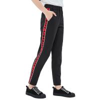 网易严选 女式字母提条休闲针织裤
