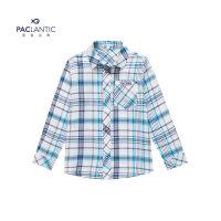 派克兰帝童装儿童衬衫男童经典格纹衬衫