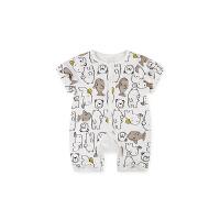 男女宝宝可爱爬服新生婴儿夏季包屁连体衣