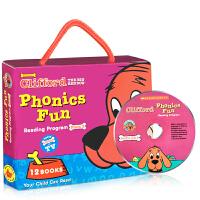 英文原版绘本 Clifford Phonics Fun Pack2 大红狗礼盒装附CD童书 启蒙幼儿阅读英语童话睡前故
