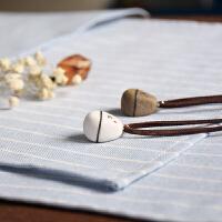 情侣项链一对学生简约文艺定制刻字男女创意陶瓷饰韩版吊坠