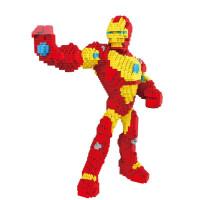 兼容乐高积木拼装玩具 小颗粒迷你钻石小积木大号马里奥 透明 8830-2钢铁侠