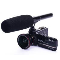包邮支持礼品卡送采访麦克风 RICH/莱彩 MP100 采访 数码 DV 摄像机 专业 高清 摄像机 婚庆 相机 麦克
