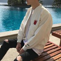新品春款男装立领夹克外套韩版潮流复古百搭休闲学生上衣外套
