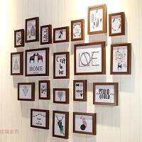 爱心照片墙相框墙心形20个相框组合北欧婚纱影楼家装客厅卧室书房