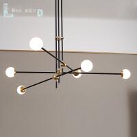 创意线条造型铁艺餐厅客厅灯后现代简约设计师灯具