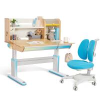 2平米 2018新款梦境儿童学习桌椅套装 实木桦木儿童书桌 可升降多功能写字桌120cm 小学生课桌