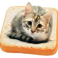 吐司面包创意动漫周边微博同款切片坐垫猫咪宠物垫子土司毛绒抱枕