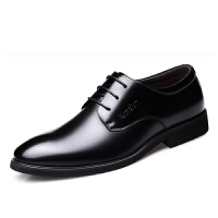 夏季新款男士皮鞋男鞋青年商务英伦黑色休闲真皮圆头正装鞋子男