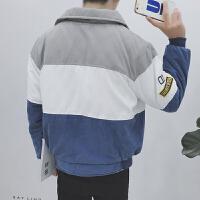 小清新日系男士保暖棉袄加厚翻领棉衣秋冬装青少年衣服潮袄子外套