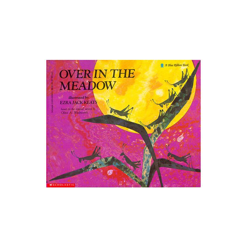 廖彩杏书单英文原版绘本 Over in the Meadow 在大草地上 韵文歌谣 儿童启蒙入门图画故事书
