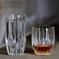 复古奢华玻璃威士忌杯洋酒杯 冷饮杯啤酒杯