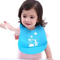 宝宝食饭兜大号硅胶软夏天儿童围嘴婴儿围兜吃饭宝贝兜兜