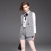 马甲套装女夏秋装新款时尚西装气质小香风短裤两件套潮秋季