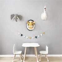 动物墙壁挂饰羊毛毡卡通动物头壁挂装饰墙挂立体装饰