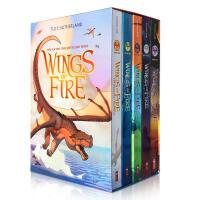 英文原版儿童小说 Wings of Fire 火翼飞龙5册全套盒装8-9-14岁章节桥梁书 奇幻魔法冒险故事书 图伊・