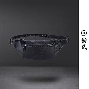 初�q中国风潮牌复古男女狮子头时尚潮流休闲户外休闲腰包43026