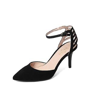 BASTO/百思图春季专柜同款羊皮女凉鞋16A19AK6 专柜1