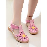女童凉鞋新款夏季镂空包头儿童鞋女童鞋子小女孩小公主鞋