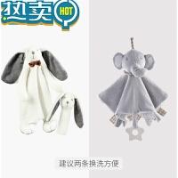 婴儿安抚巾可入口宝宝0-1岁安抚玩偶手偶毛绒玩具3-6-12个月睡眠