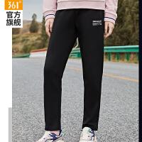 【618到手价:89】361运动裤女2021春季新款修身针织长裤卫裤纯色女士直筒休闲裤女装