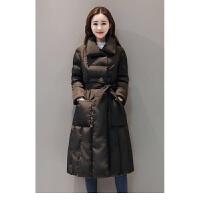 羽绒棉衣服女棉袄冬装韩版修身系带收腰中长款加厚外套潮