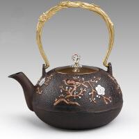 铸铁茶壶纯手工日本南部铁壶礼品茶具铸铁壶无涂层 铁茶壶日本南部生铁壶茶具烧水煮茶老铁壶