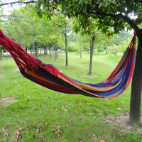 吊床户外秋千加厚帆布彩虹色双人休闲加宽野营室内儿童吊床户外装备 野餐用品