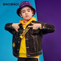 【2件3折价:99】巴拉巴拉旗下巴帝巴帝童装男童牛仔外套2019秋装新款中大童长袖潮酷韩版上衣