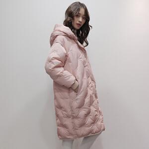 yaloo/雅鹿羽绒服女中长款 韩国冬季正品新款可爱宽松加厚外套女