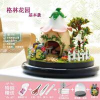 diy小屋摩天轮手工制作拼装玩具房子模型材料情人节创意生日礼物