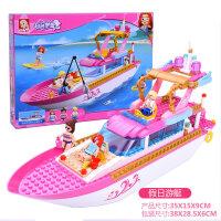 小鲁班积木男孩子拼装军事飞机儿童女孩玩具航空6-7-8-9-10岁