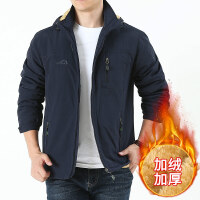 青中年男士加绒加厚棉衣秋冬保暖棉袄外套宽松大码户外夹克上衣